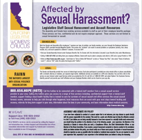 Sexual Harassment Victim Resources